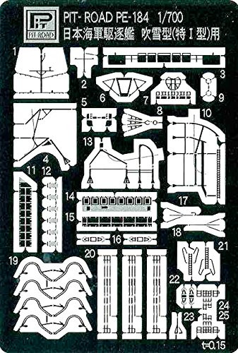 Pit-Road PE184 IJN DD Fubuki Class Photo-Etched Parts 1/700 Scale