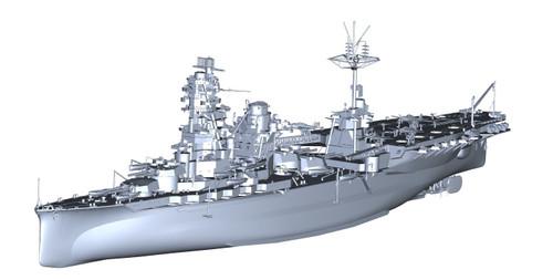 Fujimi No.12 IJN Aircraft Battleship Hyuga 1/350 Scale Kit
