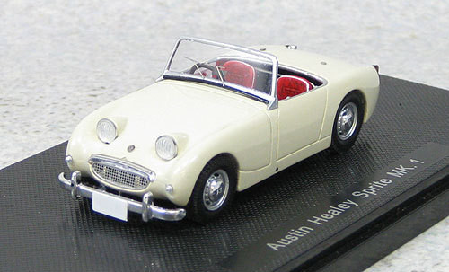 Ebbro 44454 Austin Healey Sprite Mk.I White 1958 (Resin) 1/43 Scale