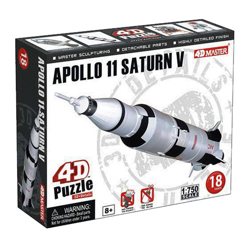 Aoshima 4D Puzzle Space No.3 Apollo 11 Saturn V 1/750 Scale Kit