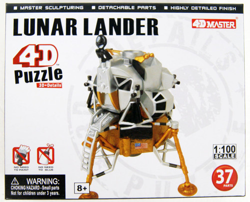 Aoshima 4D Puzzle Space No.7 Lunar Lander 1/100 Scale Kit