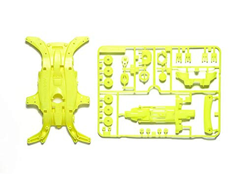 Tamiya 95495 Mini 4WD MA Fluorescent-Color Chassis Set (Yellow)