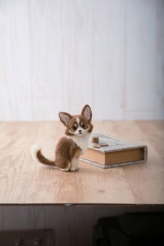 Hamanaka H441-547 Felt Wool Handicraft Kit Chihuahua Dog