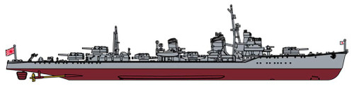 Hasegawa CH124 IJN Destroyer Hayanami (Yugumo-class) Full-Hull Special 1/700 Scale Kit