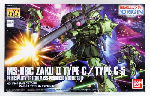 Bandai Gundam The Origin 016  MS-06C ZAKU II TYPE C/TYPE C-5 1/144 Scale Kit