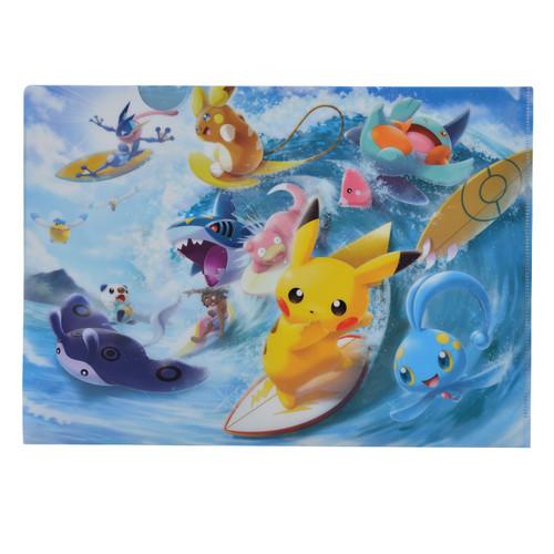 Pokemon Center Original A4 Clear File Pokemon Surf