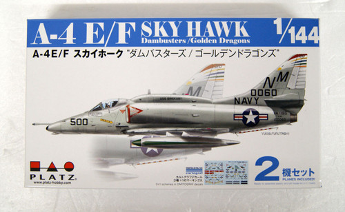 Platz A-4E/F Skyhawk Dambusters/Golden Dragons (2pcs) 1/144 Scale Kit