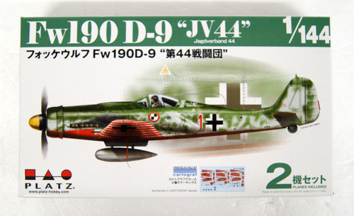 Platz PDR-4 Focke Wulf Fw190 D-9 Jagdverband 44 (2pcs) 1/144 Scale Kit