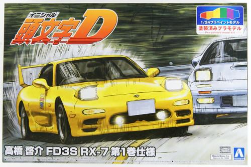 Aoshima 056233 Initial D: Keisuke Takahashi FD3S RX-7 Vol.1 Ver. Pre-Painted 1/24 Scale  Kit