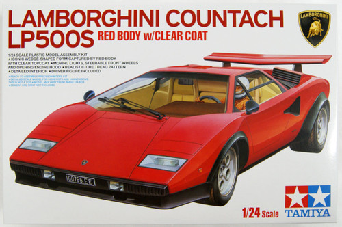 Tamiya 25419 Lamborghini Countach LP500S (Clear Coat Red Body) 1/24 scale kit