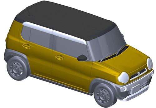 Fujimi Suzuki Hustler (G/Active Yellow) 1/24 Scale Kit