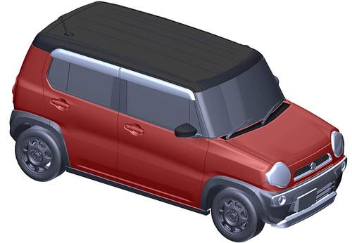 Fujimi 066189 Suzuki Hustler (G/Phoenix Red Pearl) 1/24 Scale Kit