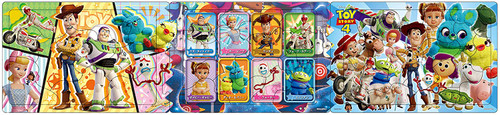 Apollo-sha Jigsaw Puzzle 24-142 Disney Toy Story 4 Panorama (10+15+20 Pieces)