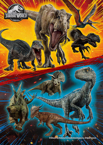 Epoch Jigsaw Puzzle 03-061 Jurassic World Dinosaur (108 Pieces)