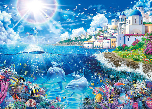 Epoch Jigsaw Puzzle 07-718 Lassen Mykonos World Travel (500 Pieces)