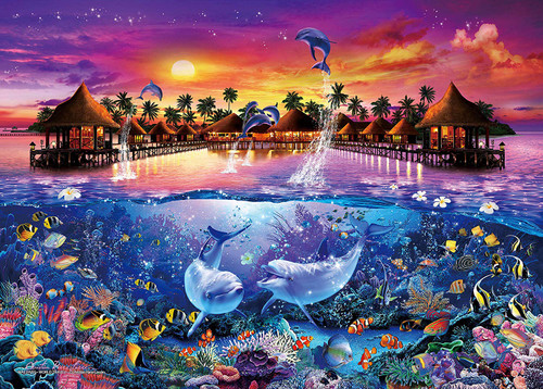 Epoch Jigsaw Puzzle 07-719 Lassen Maldives World Travel (500 Pieces)