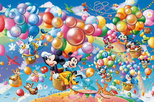 Epoch Jigsaw Puzzle 97-004 Disney All Characters Balloon Adventure  (1000 Pieces)