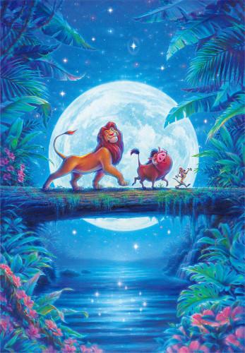 Tenyo Japan Jigsaw Puzzle D1000-047 Disney Lion King Moon Light Hakuna Matata (1000 Pieces)