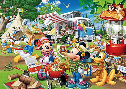 Tenyo Japan Jigsaw Puzzle D300-013 Disney Mickey Auto Camping (300 Pieces)