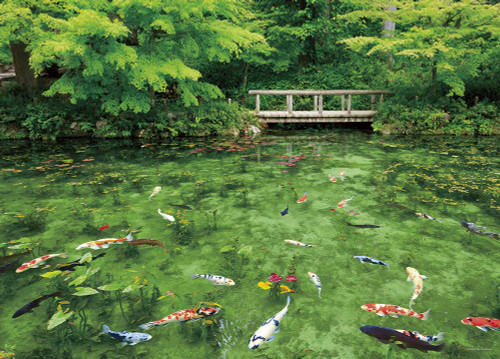 Yanoman Jigsaw Puzzle 05-1021 Gifu Japan Monet's Pond (500 Pieces)