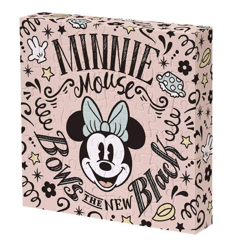 Yanoman Jigsaw Puzzle 2303-07 Disney Minnie Mouse Bows the New Black (56 Pieces)