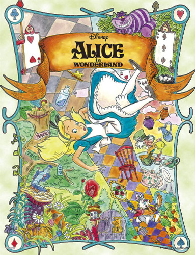 Yanoman Jigsaw Puzzle 42-67 Disney Alice in Wonderland (300 Small Pieces)