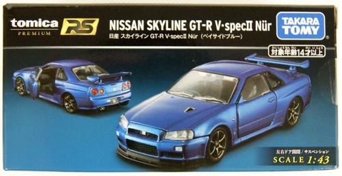 Takara Tomy Tomica Premium RS Nissan Skyline GT-R V-SPEC II Nur (Blue) 130895