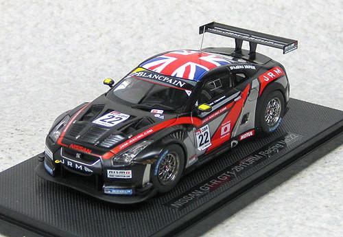 Ebbro 44712 Nissan GT-R GT1 2011 JRM Racing #22 (Black) 1/43 Scale