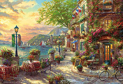 Beverly Jigsaw Puzzle M81-578 Thomas Kinkade French Riviera Cafe (1000 S-Pieces)