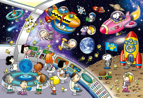 Epoch Jigsaw Puzzle 31-513s Snoopy Space Travel (1053 S-Pieces)