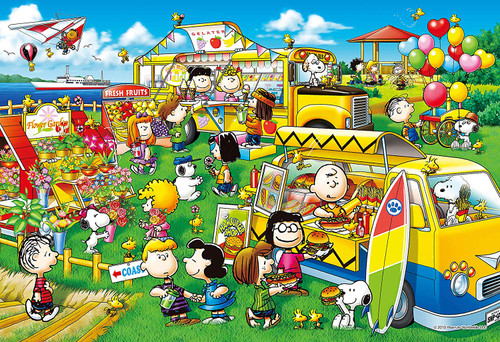 Epoch Jigsaw Puzzle 31-515s Snoopy Peanuts Wagon Shop (1053 S-Pieces)
