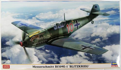 Hasegawa 07478 Messerschmitt Bf109E-1 Blitzkrieg 1/48 Scale Kit
