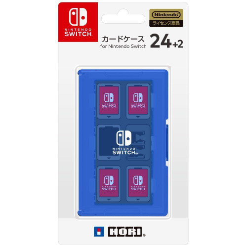 Hori Game Card Case 24+2 Blue for Nintendo Switch JTK-4961818027435