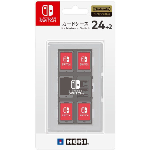 Hori Game Card Case 24+2 White for Nintendo Switch JTK-4961818027459