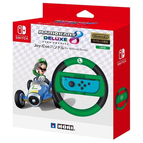 Hori Joy-Con Wheel Mario Kart 8 DX Luigi for Nintendo Switch JTK-4961818028005