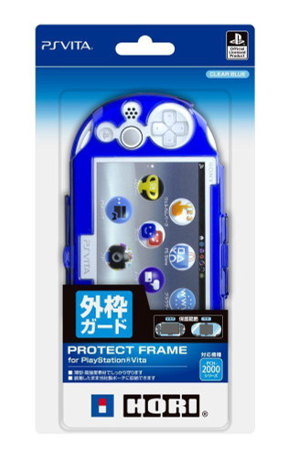Hori New Protect Frame for Playstation Vita (PCH-2000) Clear Blue JTK