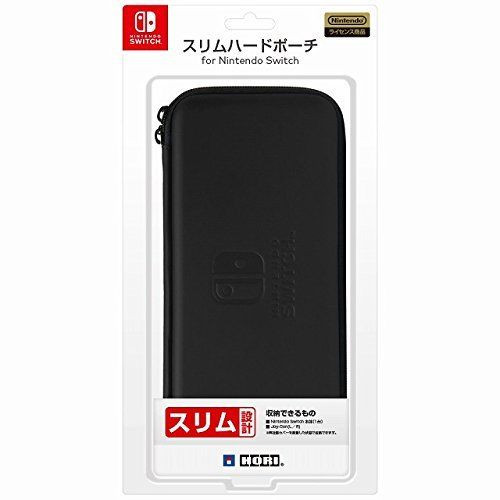Hori Slim Hard Pouch Black for Nintendo Switch JTK-4961818027244