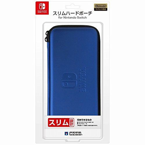 Hori Slim Hard Pouch Blue for Nintendo Switch JTK-4961818027251