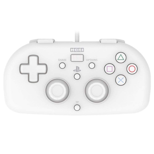 Hori PS4 PlayStation 4 Wired Controller Light (White) JTK-4961818028425