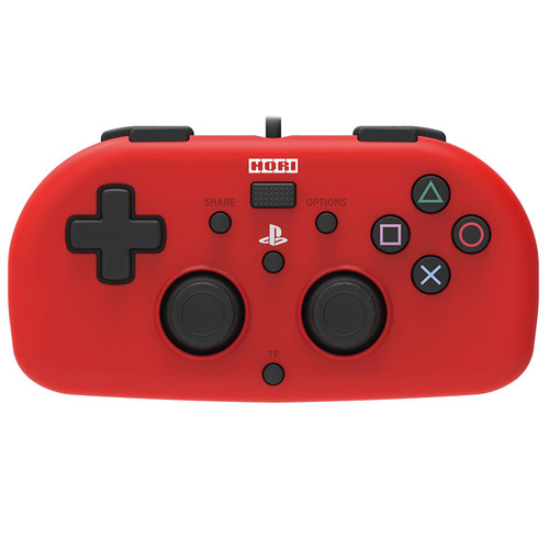 Hori PS4 PlayStation 4 Wired Controller Light (Red) JTK-4961818028401