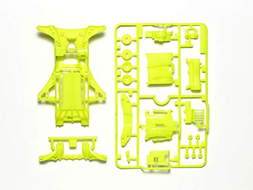Tamiya 95494 Mini 4WD FM-A Fluorescent-Color Chassis Set (Yellow)