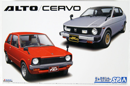 Aoshima 57858 The Model Car Suzuki SS30V Alto/SS20 Cervo 79 set 1/20 Scale Kit