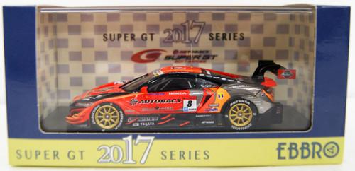 Ebbro 45516 ARTA NSX-GT Super GT GT500 2017 No.8 (Orange) 1/43 Scale