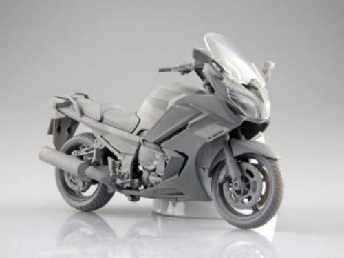 Aoshima 10679 Yamaha FJR1300A Dark Blue Metallic 1/12 Scale Finished Model