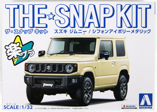 Aoshima 05779 08-D Suzuki Jimny (Chiffon Ivory Metallic) 1/32 Scale Pre-painted Snap-fit Kit