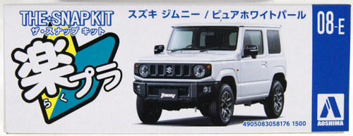 Aoshima 58176 08-E Suzuki Jimny (Pure White Pearl) 1/32 Scale Pre-painted Snap-fit Kit