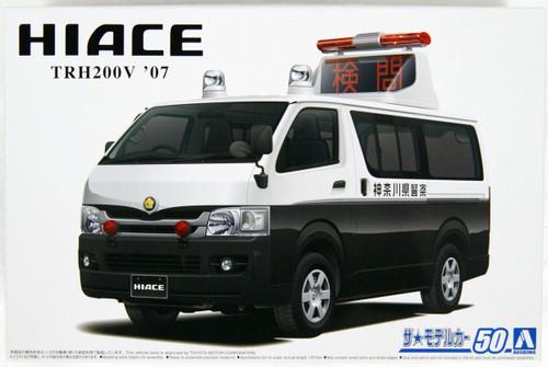 Aoshima 05815 The Model Car 50 Toyota TRH200V Hiace Accident Processing Car 2007 1/24 Scale Kit