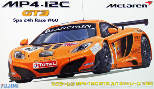 Fujimi RS-74 McLaren MP4-12C GT3 Spa 24h Race #60 1/24 Scale Kit 125701