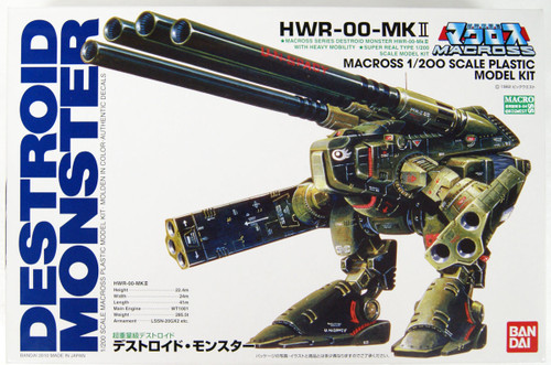 Bandai 667915 Macross HWR-00-MKII Destroid Monster 1/200 Scale Kit