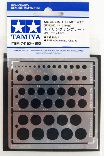 Tamiya 74150 Modeling Template (Circle 1-12.5mm)